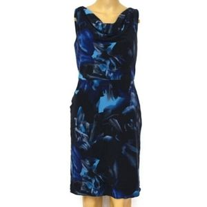 Ann Taylor 2P, 92% Silk Cowl Neck Dress